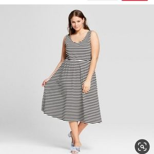 Who What Wear black white striped sundress